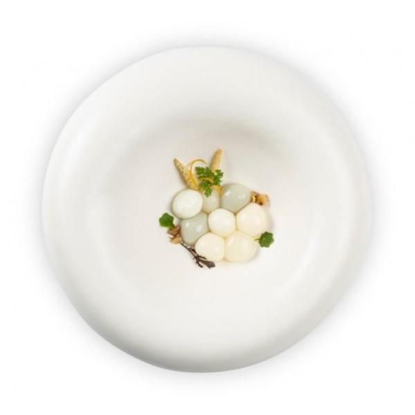 Assiette porcelaine 100% Chef, Dune Ø 27 cm mate (x 6)
