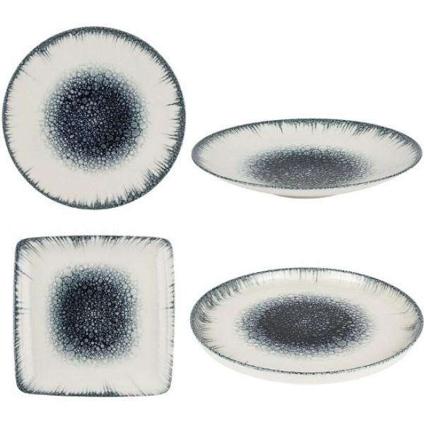 Assiette porcelaine Kaldera carrée 25 cm (x 12)