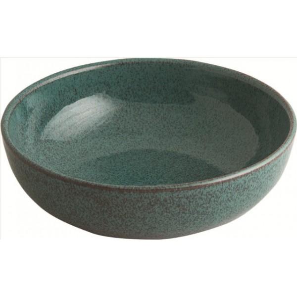 Assiette coupe 60 cl en terre cuite, Koloreo verte (x 12)