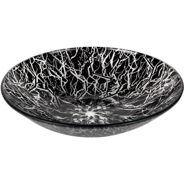 Assiette en verre noir Nuit d'Orage creuse 110 cl (x 12)