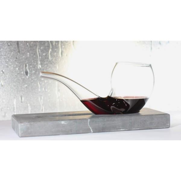 Verre Smoke Drink 10 cl + support en marbre, 100 % Chef (x 1)