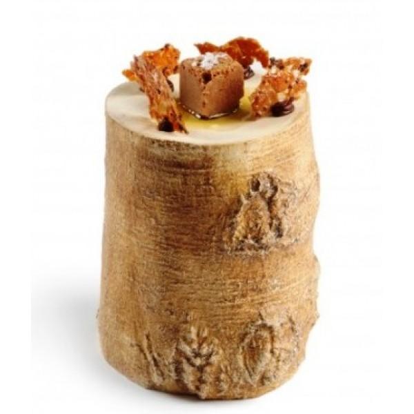 Assiette porcelaine 100% Chef, branche d'arbre Ø 10 cm (x 6)