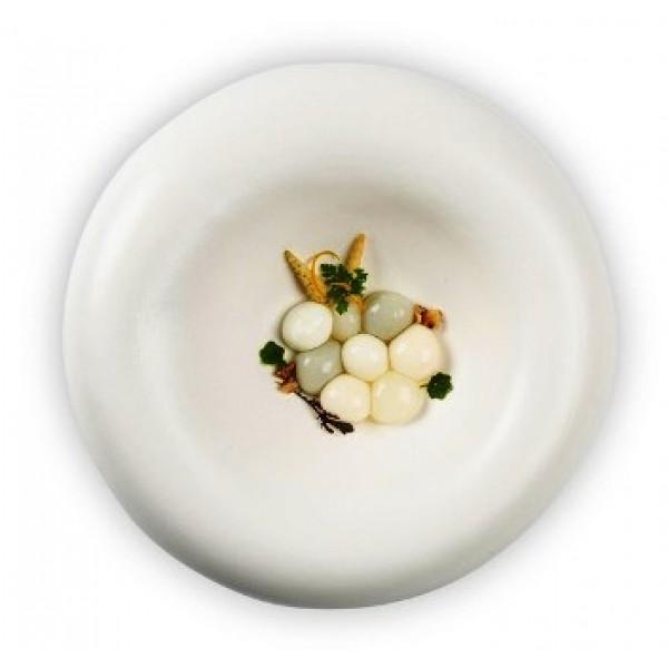 Assiette porcelaine 100% Chef, Dune Ø 27 cm (x 6)
