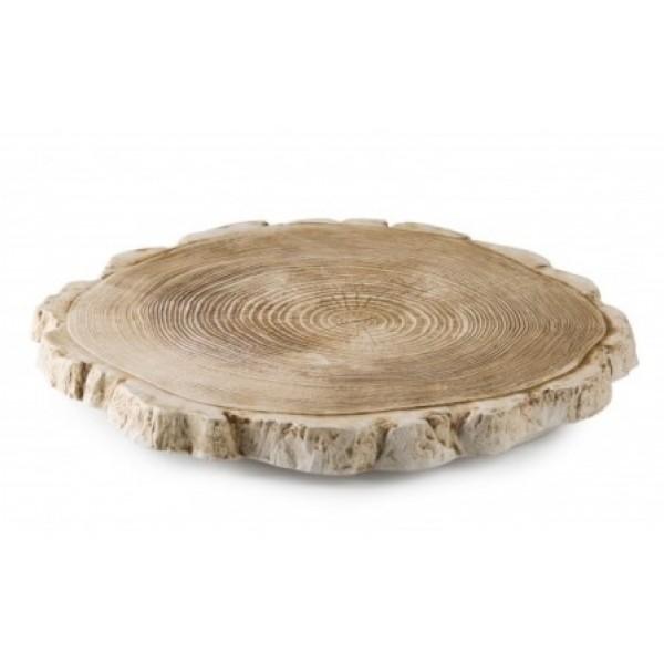 Assiette porcelaine 100% Chef, tronc d'arbre Ø 32 cm (x 6)