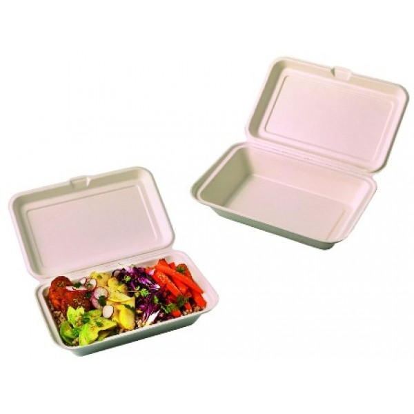 Boite lunch, fibre de canne 25 x 16 cm (x 500)