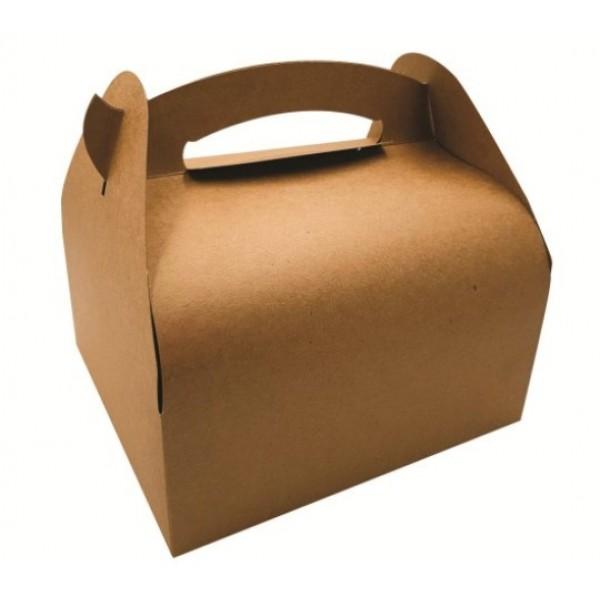 Boite à emporter en carton à poignées, 18 x 16 x Ht 7 cm (x 50)