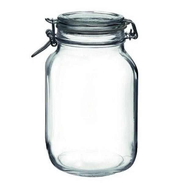 Bocal en verre avec couvercle 200 cl (x 12)