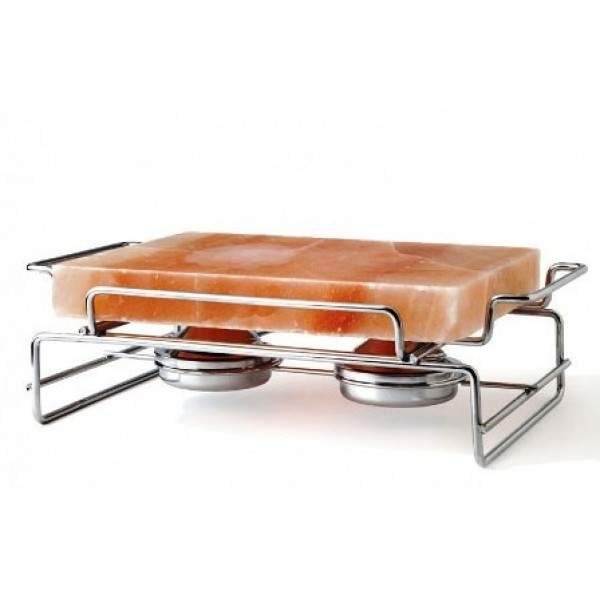 Support de cuisson et ardoise de sel rose 29 x 21 cm, 100% Chef