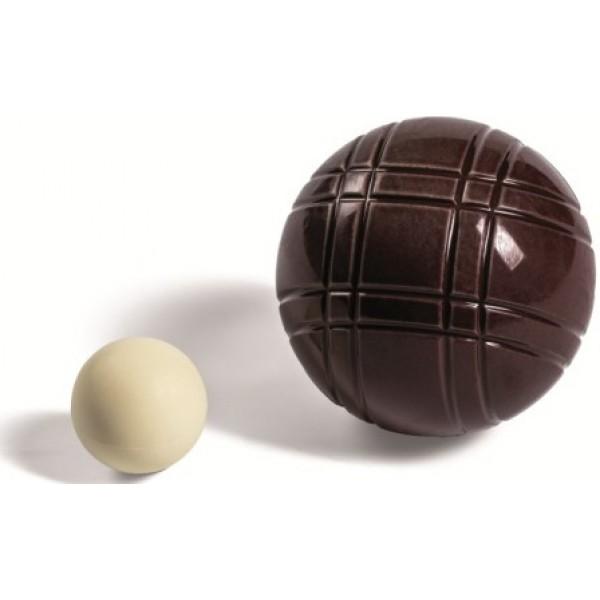 Moule à chocolat, Jeu de pétanque 6 x 230 g et 2 x 17 g