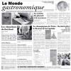 Papier journal alimentaire 29 x 30 cm Monde Gastronomique (x 500)