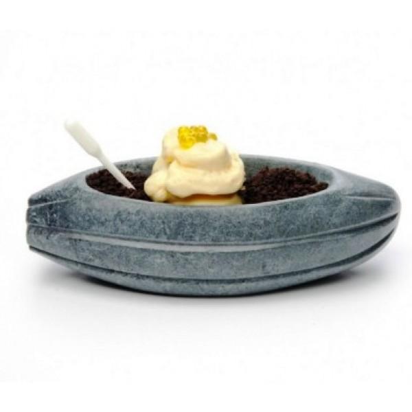 Assiette en marbre 100% Chef, Fève de cacao 21 x 8 x 6 cm