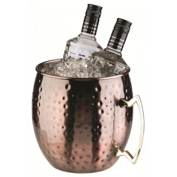 Seau rafraîchisseur à bouteilles Moscow, acier cuivré 5 litres