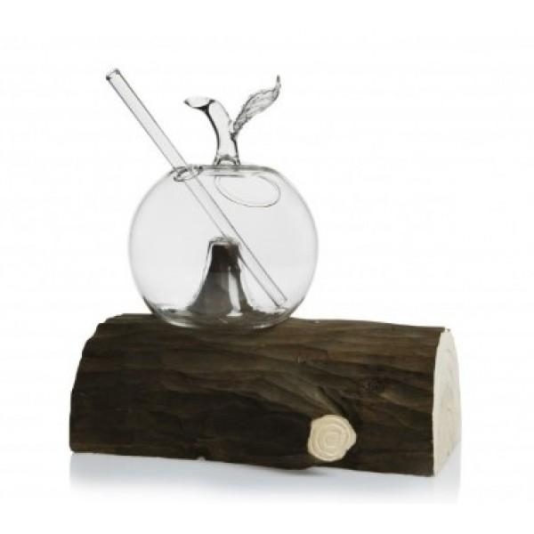 Verre 25 cl Pomme moulé sur tronc en bois 100 % Chef (x 1)