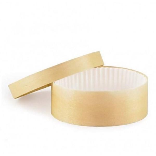 Boite à fromage en peuplier  60 cl avec caissette, Ø 135 mm (x  50)