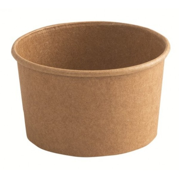 Pot 15 cl à glace, en carton kraft Ø 85 mm (x 1000)