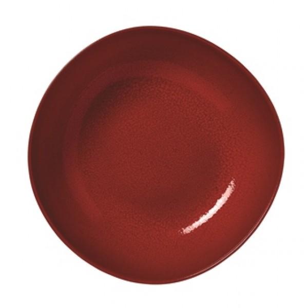 Assiette en grès Piment'O creuse 17 x 16.4 cm (x 12)