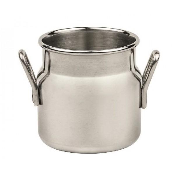 Pot  7 cl à lait, acier inoxydable, 2 poignées (X 12)