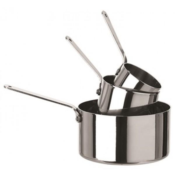 Mini casserole en inox  5 cl Ø 50 mm (X 12)