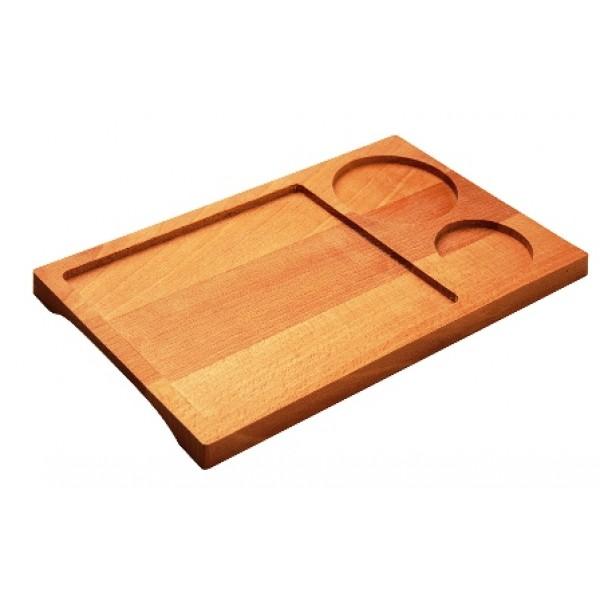 Assiette en bois de hêtre, planche apéro 25 x 15 cm (x 12)