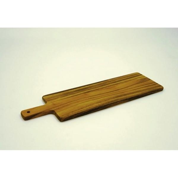 Assiette en bois d'acacia, planche à partager, 50 cm (x 6)