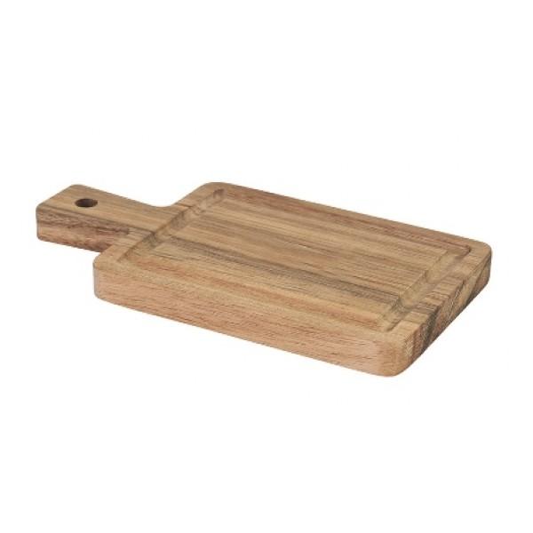 Assiette en bois d'acacia, planche 19 x 10 cm (x 12)