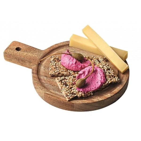 Assiette en bois d'acacia, planche ronde Ø 14 cm (x 12)