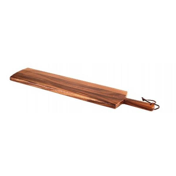 Assiette en bois d'acacia, planche à partager, 67 cm (x 6)