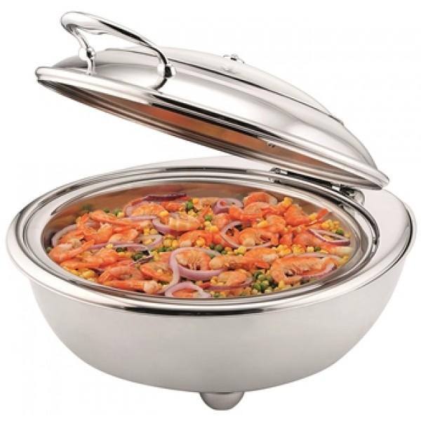 Chafing dish 680 cl rond électrique en acier inoxydable haute qualité