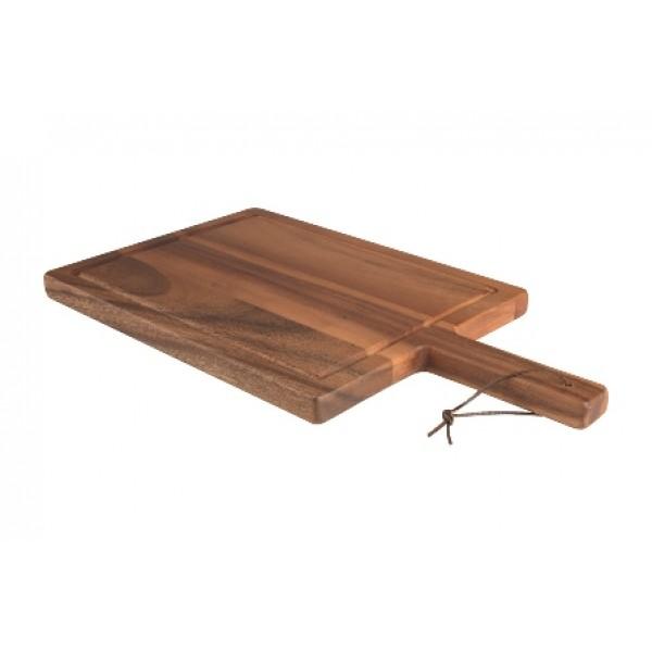 Assiette en bois d'acacia, planche 42 x 23 cm Tuscany (x 6)