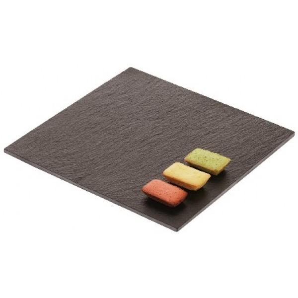 Assiette en ardoise naturelle carrée, 20 x 20 cm (X 12)