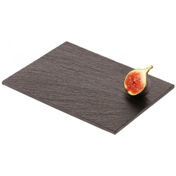 Assiette en ardoise naturelle rectangle, 30 x 20 cm (X 12)