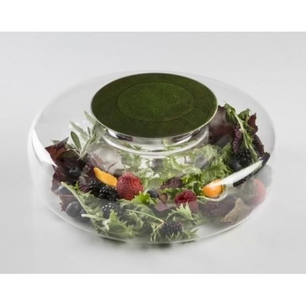 Assiette en verre 100% Chef Emeraude & support Advance