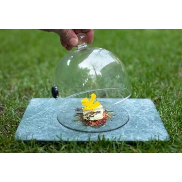 Assiette en marbre 100% Chef, Circus 17 x 15 cm & cloche