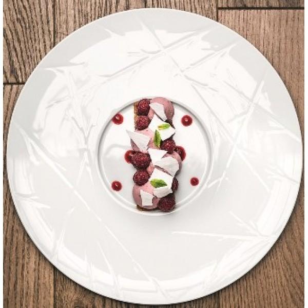 Assiette porcelaine Chef's Collection Natura Ø 33 cm (x 4)