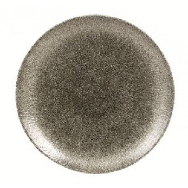 Assiette porcelaine Raku noire plate Ø 21.7 cm (x 12)