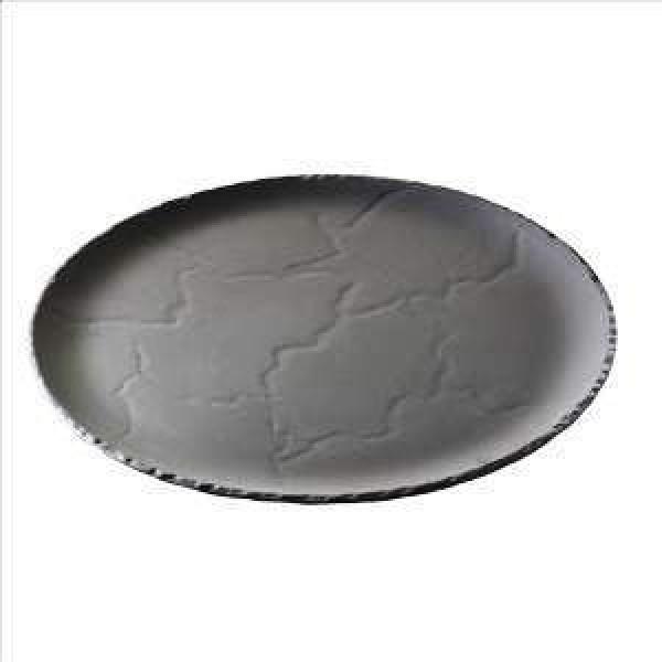 Assiette porcelaine Basalt Ø 20 cm, imitation ardoise (x 6)