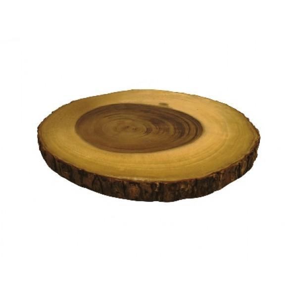 Assiette en bois, planche ronde Ø 29 cm Pintch'O (x 6)