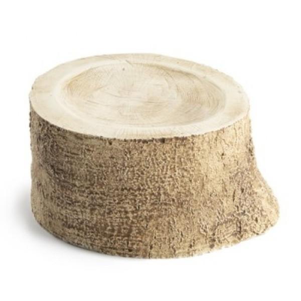 Assiette porcelaine 100% Chef, tronc d'arbre Ø 17 cm (x 6)
