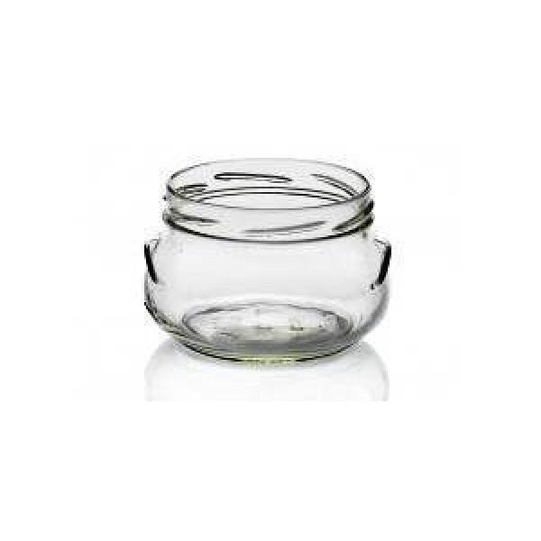 Bocal en verre Bonta 12.5 cl, bouchon métal argenté (x 48)