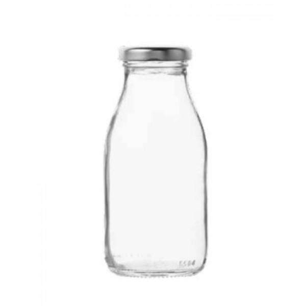 Bouteille de lait en verre + bouchon métal  25 cl (x 92)