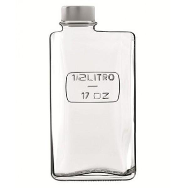 Bouteille  50 cl Optima, en verre cristallin épais (x 12)