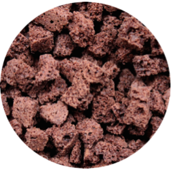 Morceaux de brownies noirs, saveur intense de chocolat (250 g)