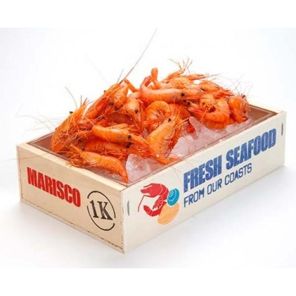 Caisse à fruits de mer imprimée, 100 % Chef, 21 x 13 cm (x 8)