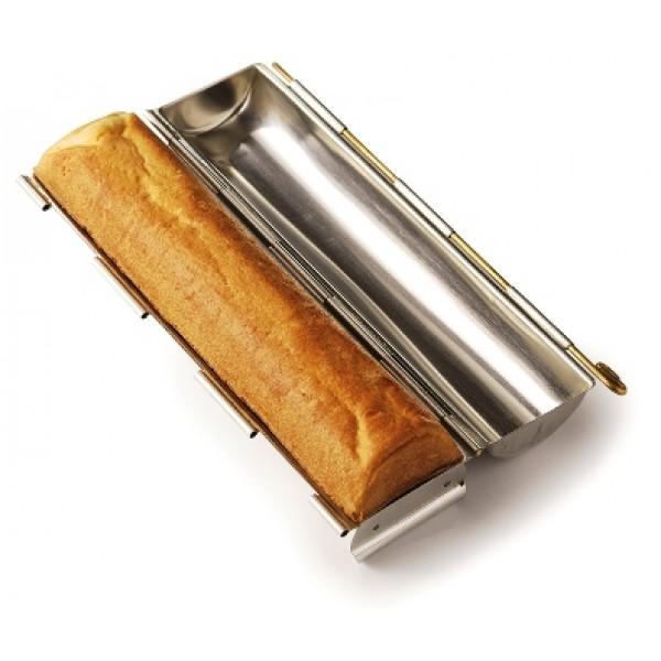 Moule à pain de mie rond Ø 70 x 300 mm, en acier