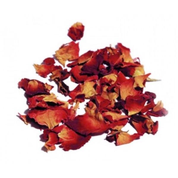 Pétales de roses séchées, fleurs comestibles (100 g)