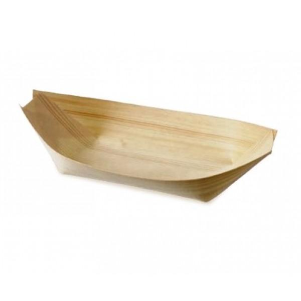 Barque ou Pirogue en feuille de bois naturelle 17 x 8.5 cm (x 600)