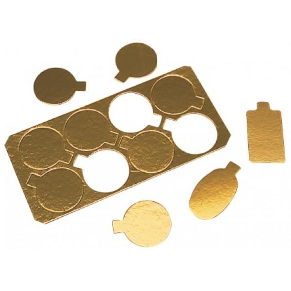 Carton ovale or 90 x 55 mm, plaques prédécoupées (x 200)