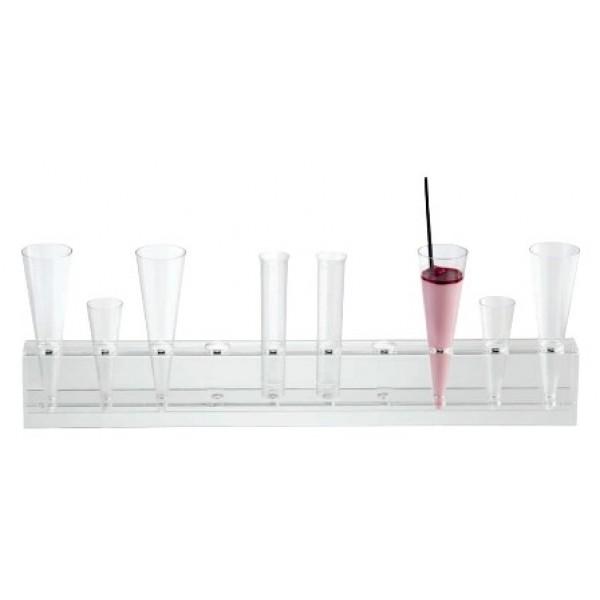 Présentoir à tubes à essai 13 ou 19 ml & cônes, 10 trous 25 mm