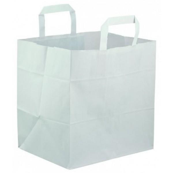 Sac en kraft blanc 21.5 x 30.5 cm, spécial traiteur (x 250)