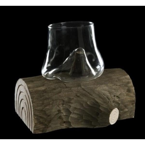 Verre 40 cl moulé sur tronc en bois 100 % Chef (x 1)
